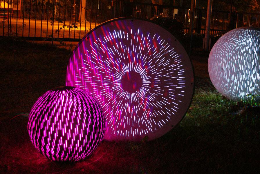 Ogrodowe kule świetlne