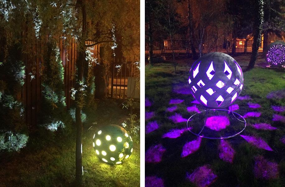Kula ogrodowa świetlna oświetleniowa