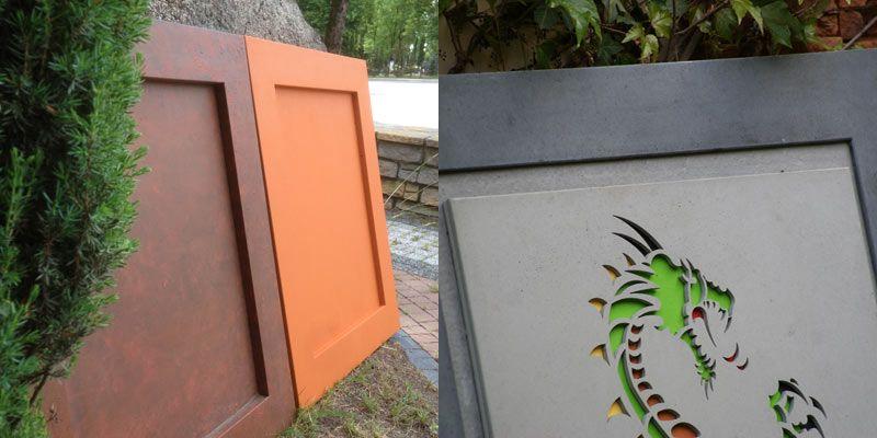 Tablice betonowe elewacyjne